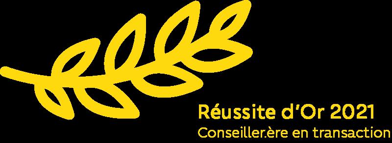 Reussites récompense ORPI 2021 Or Conseiller Transaction